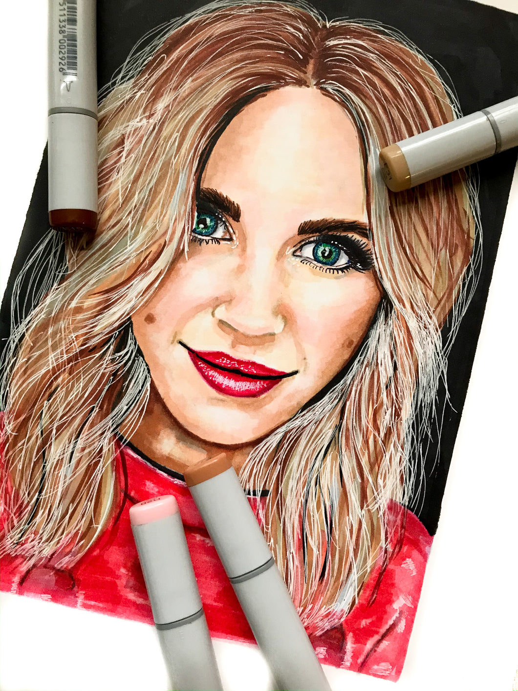 Copic Marker Portrait