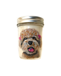 Custom Pet Portrait Candles