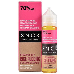 SNCK Snacks E-Liquid - Strawberry Rice Pudding & Graham Crackers