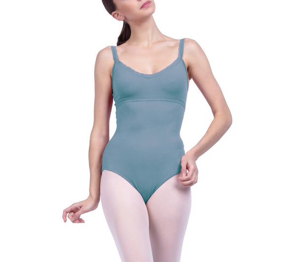 Leotard with fancy finishes