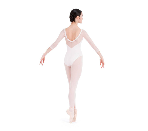 3/4 Sleeved Leotard with Lace Sleeves