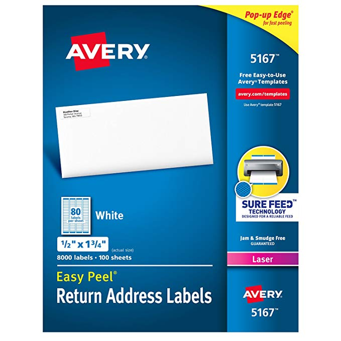 Avery,Label,0.5x1.75,Address,80/Sheet