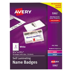 Avery,Badge,Laminating