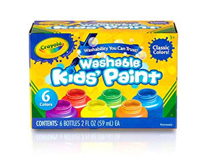 Crayola Kids Washable Paint Set 6 Colors