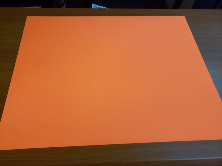 Cardboard,23x35,Flourescent,Orange