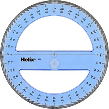 Helix Protractor 15 CM 360 Degrees
