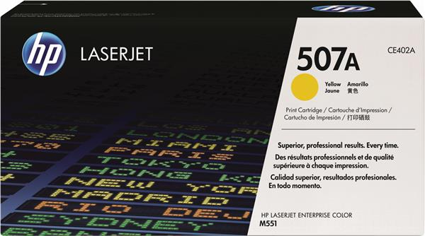 HP,Toner,Laserjet #507a,Yellow