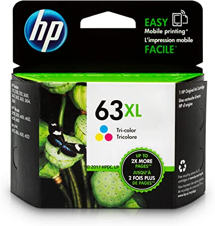 HP,Cartridge Ink #63XL,Tri-Color