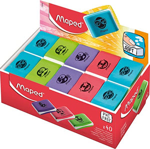 Maped,Eraser,Essential Soft,Small,Colored