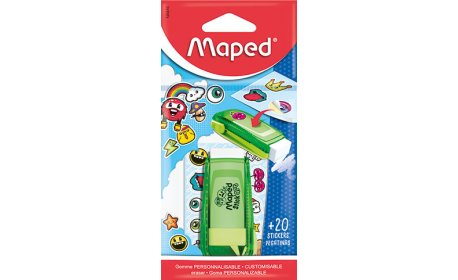 Maped,Eraser,in Bag with Stickart