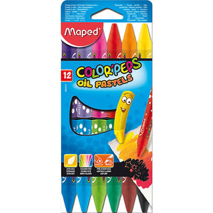 Maped,Crayon,Color Peps,Oil Pastels,Pk of 12