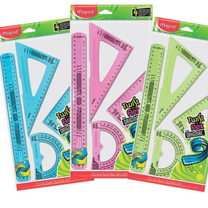 Maped,Ruler,Twist N Flex,Maxi 4 Piece Set