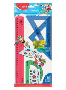 Maped 4-Piece Geometry Maxi Ruler Set