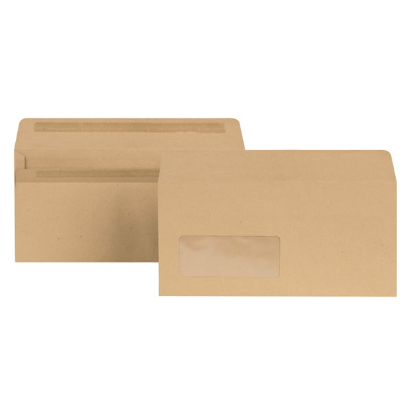 Universal,Envelope,Brown,With Window,4-1/8x9-1/2