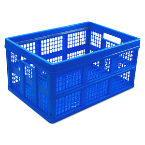 Universal,Crate,Storage,With Hanging Rods,Blue