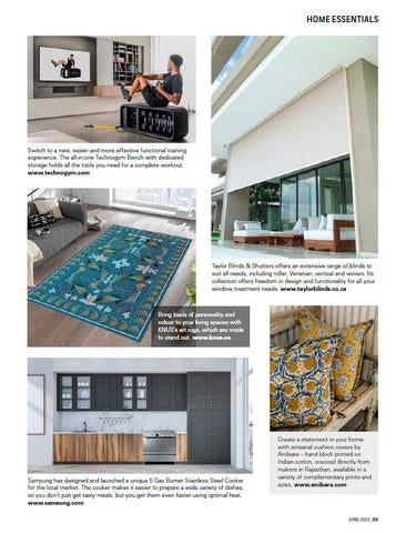 CoralBloom feature in SA Home Owner magazine