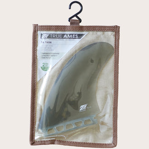 True Ames Twin Fins, set of two, smoke
