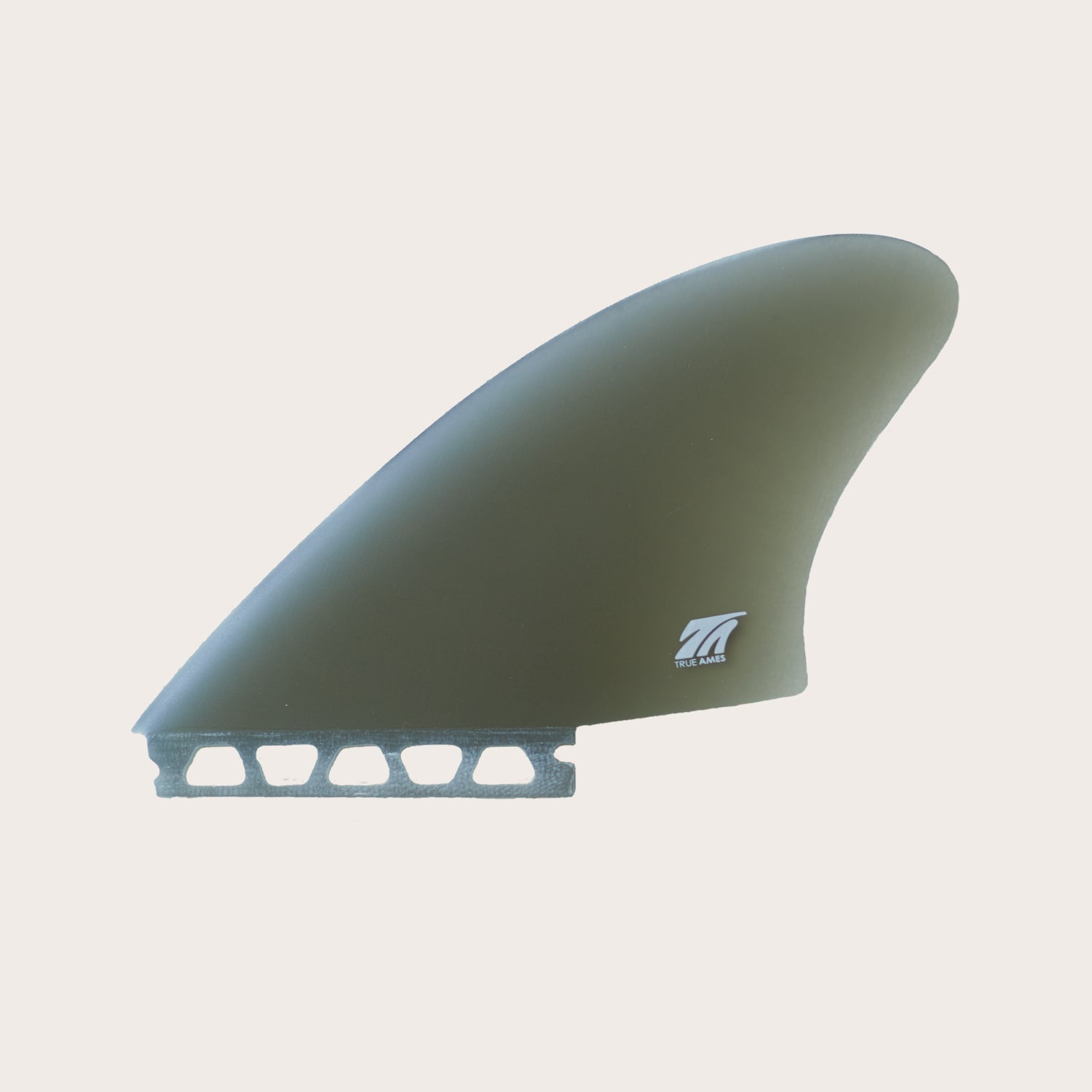 True Ames Hobie Keel Fins (Futures Compatible), set of two, smoke