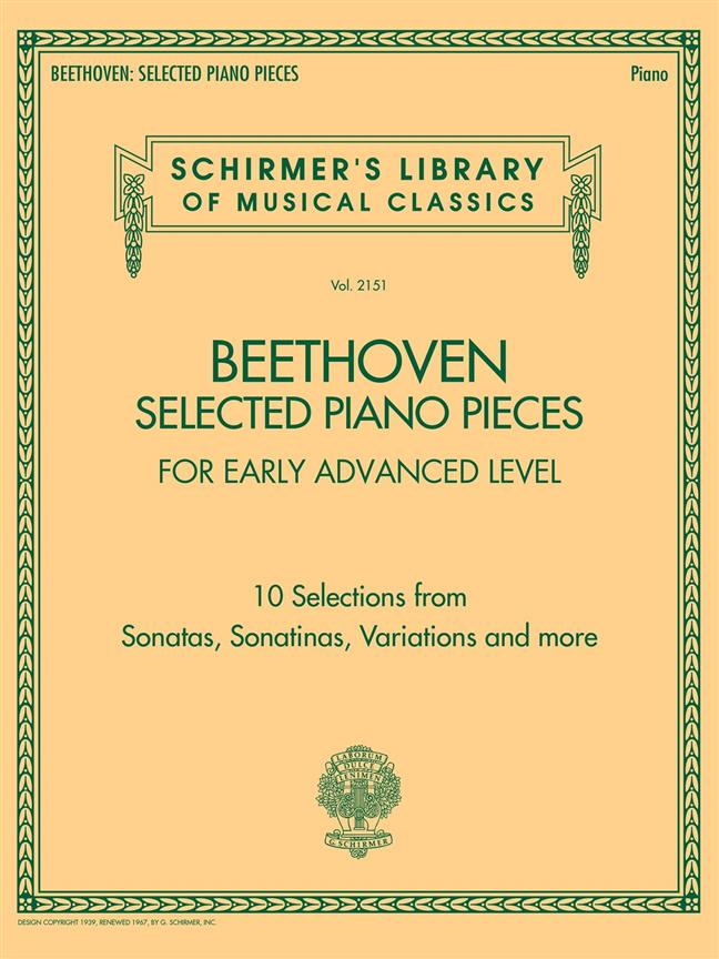 Beethoven: Selected Piano Pieces for Early Advanced Level