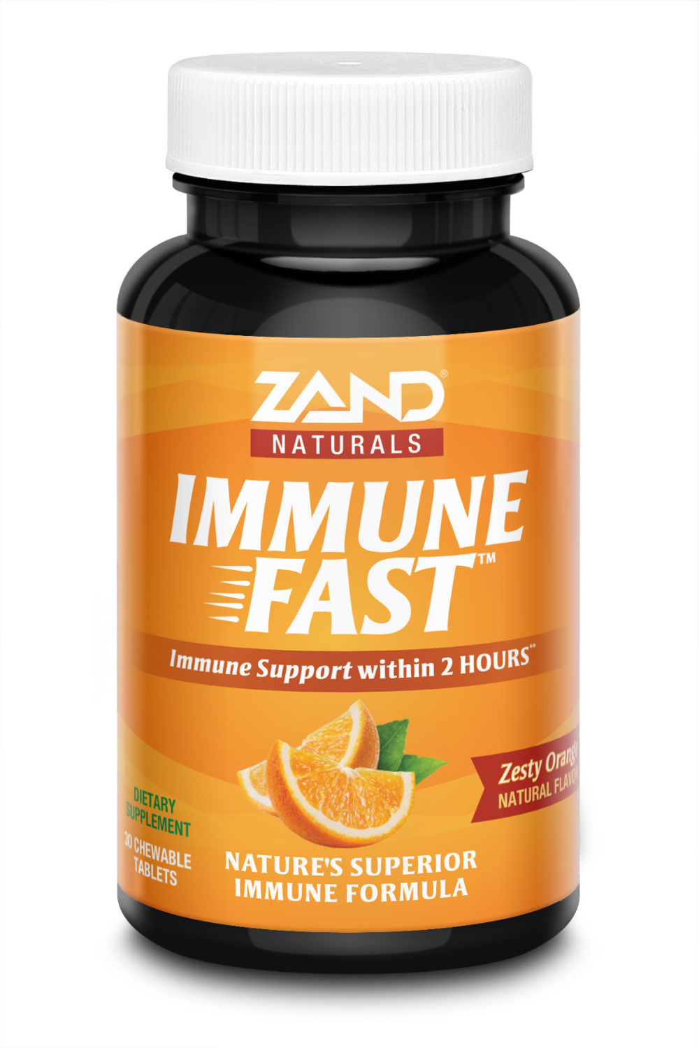 Immune Fast Zesty Orange Chewables helps boost immune response within two hours of taking it.