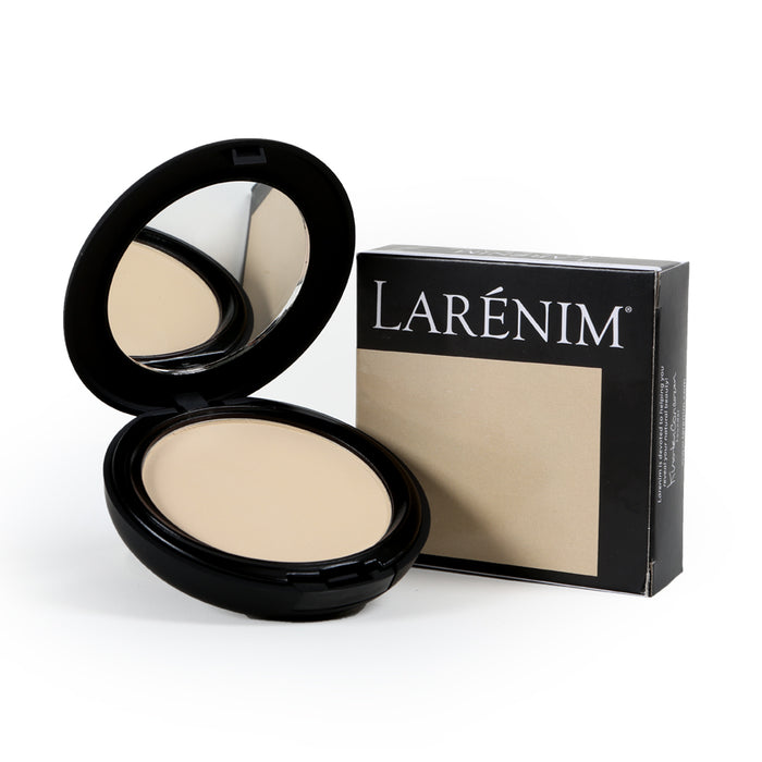 Larenim Mineral Silk Light/Medium Pressed Powder | For a Flawless Matte Finish with Dewy Glow | No Phthalates, Parabens or Gluten | Lt-Med Color | 9g