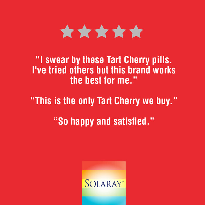 Solaray Tart Cherry Fruit Extract 425mg | Supports Healthy Uric Acid Levels w/ Antioxidants & Anthocyanins | Non-GMO & Vegan | 90 VegCaps