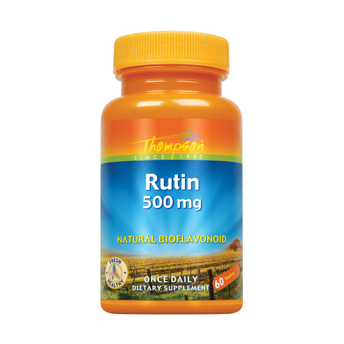 Thompson Rutin 500mg | Bioflavonoid and Antioxidant | Healthy Vascular System Support | Non-GMO & Vegan | Lab Verified | 60 Tablets