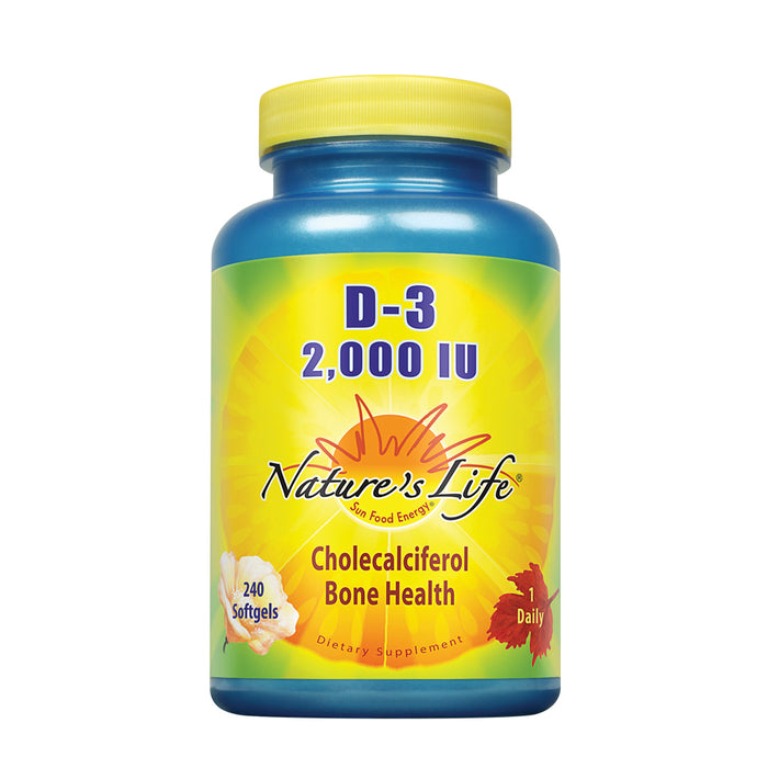 Nature's Life D-3 Softgels, Cholecalciferol, 2000 IU, 240 Count