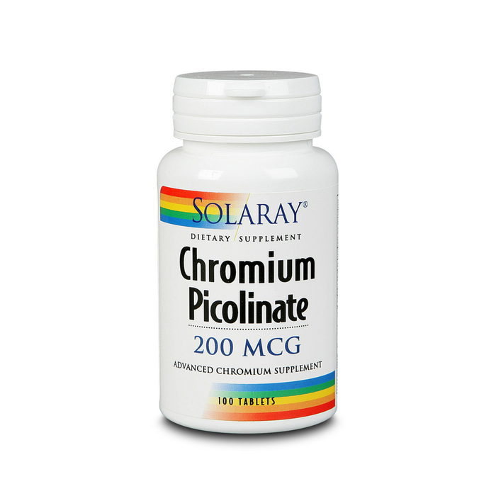 Solaray Chromium Picolinate 200mcg | 100ct
