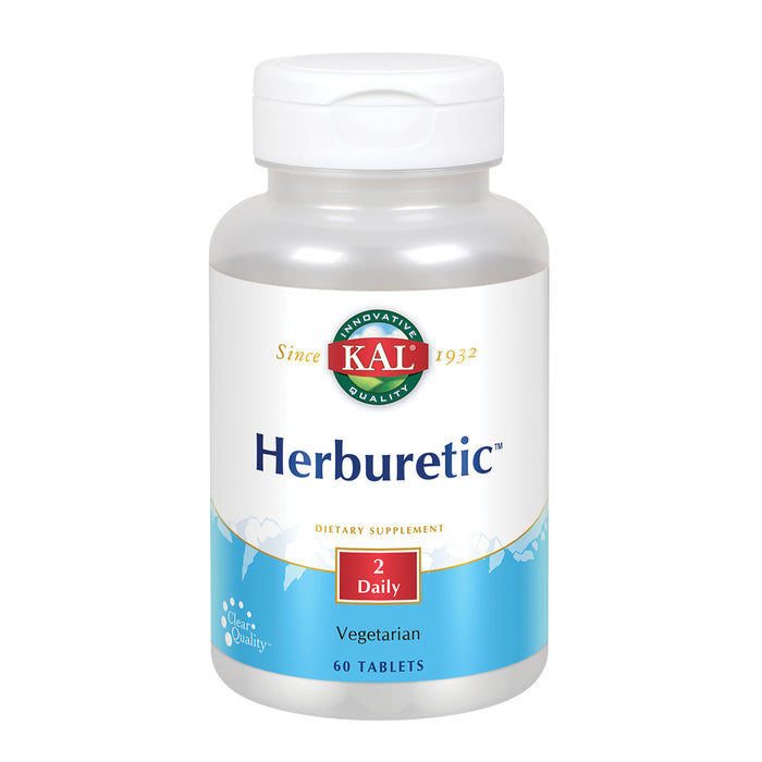 KAL Herburetic | Herbal Formula for Healthy Fluid Balance Support | Potassium, Parsley, Juniper Berry, Bromelain & More | Vegetarian | 60 Tablets