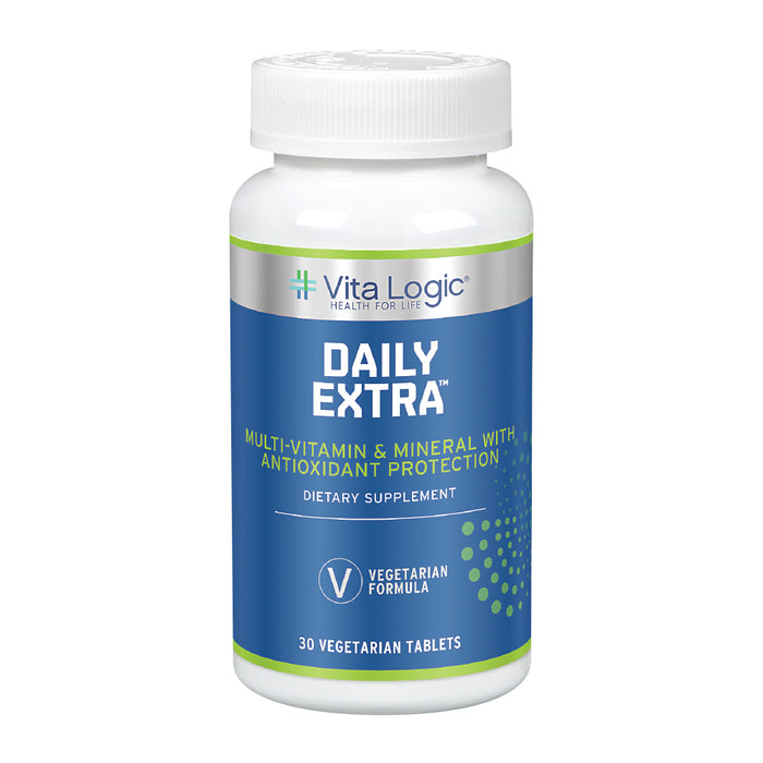 Vita Logic Daily Extra Multivitamin & Mineral | Once Daily Formula For Energy, Immune Function & Overall Health Support | 30 Vegetarian Tablets