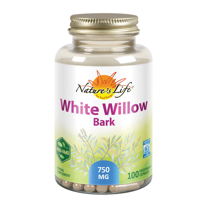 Natures Life White Willow Bark | With Salicin for Healthy Joint & Muscle Function Support | Non-GMO| 100ct, 50 Serv.