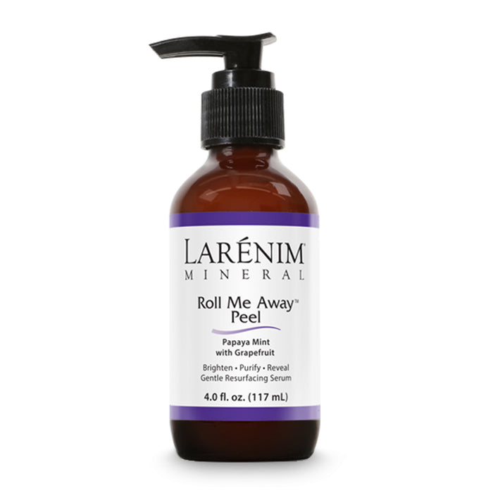 Larenim Roll Me Away Peel | Gentle Resurfacing Serum | Cleanse, Purify & Exfoliate Skin | Vegan, No Parabens | Papaya Mint & Grapefruit | 4fl oz