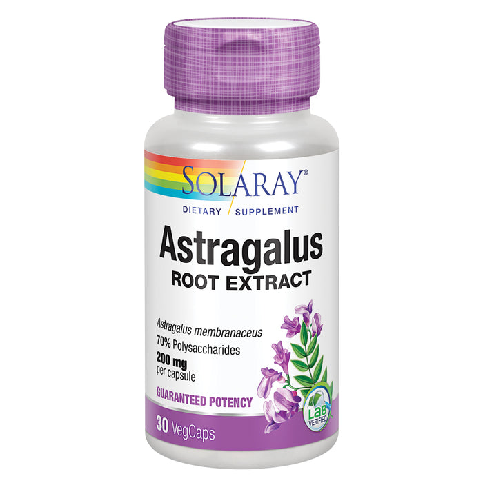 Solaray Astragalus Root Extract 200 mg | Adaptogenic & Healthy Immune Function & Stress Support | Non-GMO | 30 VegCaps