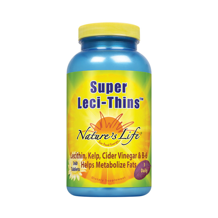 Nature's Life Leci-Thins | Features Lecithin, Kelp, Apple Cider Vinegar & Vitamin B-6 | 360 Vegetarian Tablets
