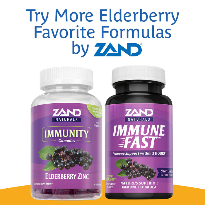 Zand Organic Elderberry Immunity Drink | Concentrated Healthy Immune System Function Support | Four 10.8 FL OZ Bottles