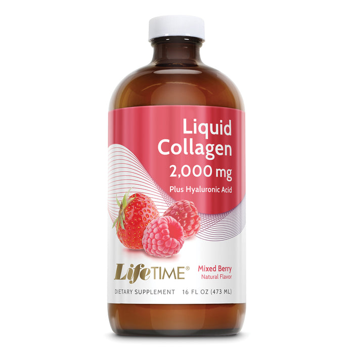 Lifetime Liquid Collagen w/ Hyaluronic Acid & Vitamin D3 | Supports Healthy Skin, Hair, Joints, Eye & Bone Health | 2000 mg | 16 FL oz