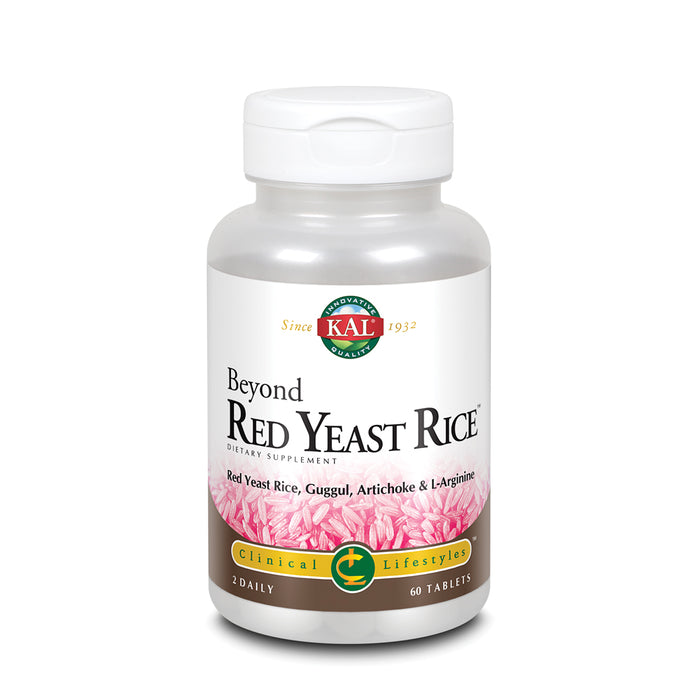 KAL Beyond Red Yeast Rice | Clinical Formula with B Vitamins, Guggul, Artichoke, L-Arginine HCl to Support Cardiovascular Health | 60 Tablets