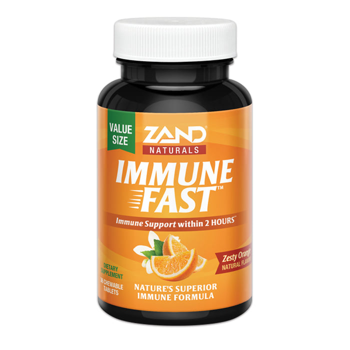 Zand Immune Fast Chews | Boosts Immune Response & Cell Activity w/ EpiCor* & Vitamin C (Orange, 36 Count)