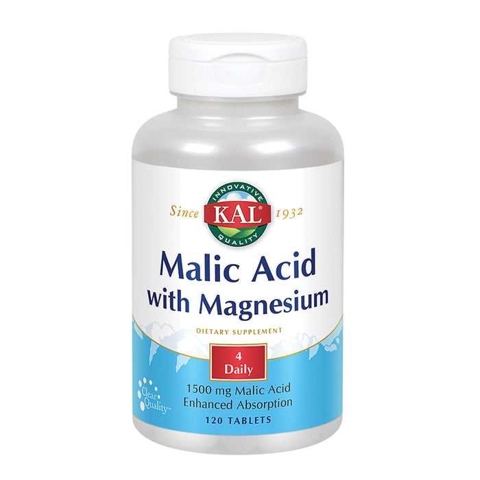 Kal Malic Acid With Magnesium Tablets, 120 Count