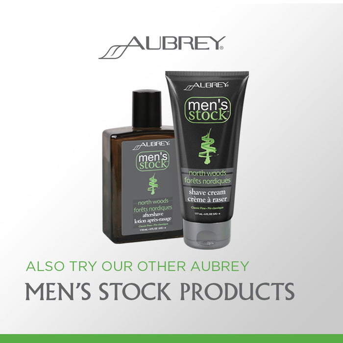 Aubrey Mens Stock Herbal Pine Deodorant | Fast Dry Spray Deodorant, Non-Irritating Ingredients | No Aluminum or Parabens | Long Lasting
