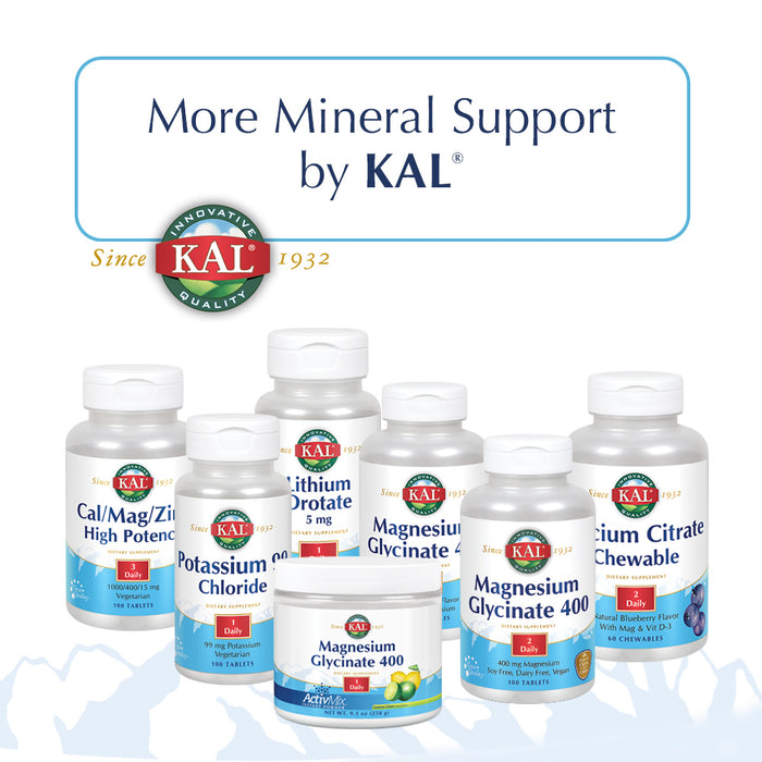 KAL Molybdenum Amino Acid Chelate 250 mg | Healthy Metabolism & Protein Synthesis Support | Chelated for Bioavailability | Vegetarian | 100 Tablets