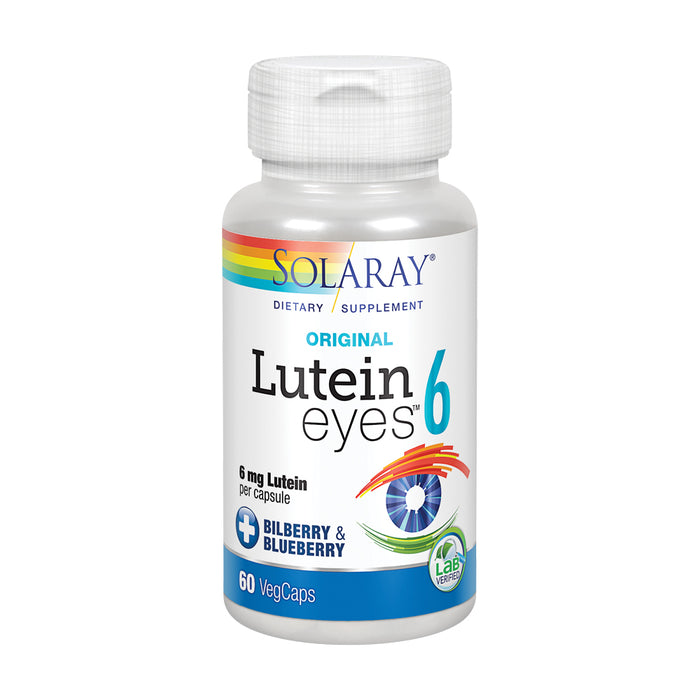 Solaray Original Lutein Eyes, 6 mg | Eye & Macular Health Support Supplement w/ Naturally Occurring Lutein and Zeaxanthin | Non-GMO | Vegan (60 CT)