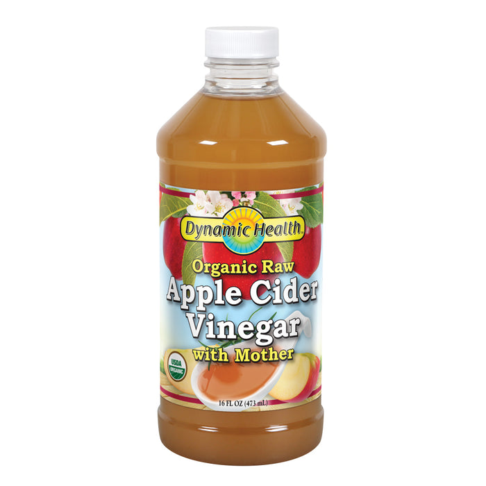 Dynamic Health Organic Raw Apple Cider Vinegar with Mother | 16 Fl oz