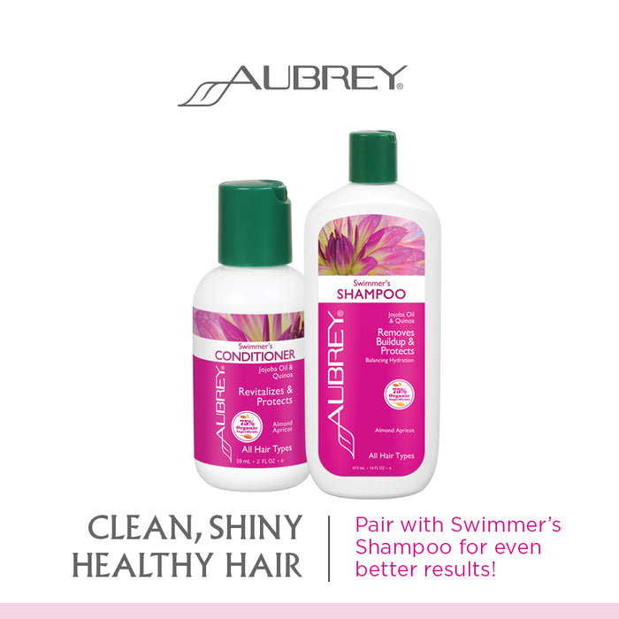 Aubrey Swimmers Conditioner | Revitalizes & Protects Hair | Jojoba Oil & Quinoa Protein | All Hair Types | 75% Organic Ingredients (2 oz)