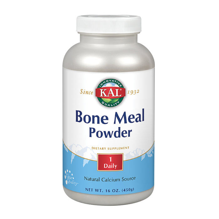 KAL Bone Meal Powder | Sterilized & Edible Supplement Rich in Calcium, Phosphorus, Magnesium | For Bones, Teeth, Nerves, Muscular Function (16oz)