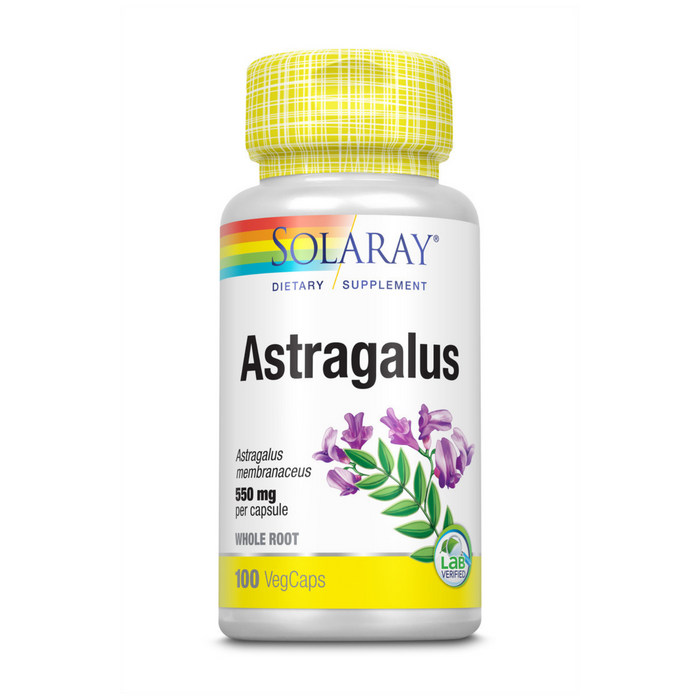 Solaray Astragalus Root 550mg | Healthy Immune Function & Stress Support | Adaptogen Herb | Non-GMO & Vegan | 100 VegCaps
