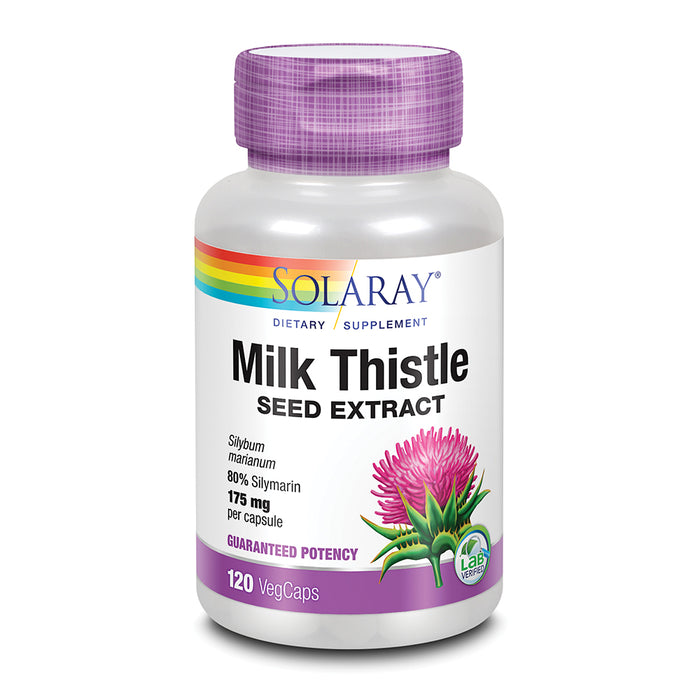 Solaray Milk Thistle Seed Extract 175mg | Antioxidant Intended to Help Support a Normal, Healthy Liver | Non-GMO & Vegan | 120 VegCaps