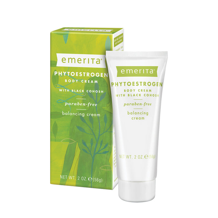 Emerita Phytoestrogen Body Cream | For Optimal Balance at Midlife | Black Cohosh, Ginseng and Red Clover | No Parabens & Vegan | 2 oz