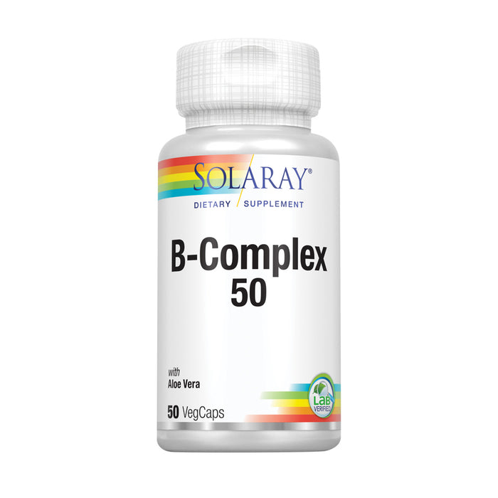 Solaray B-Complex Supplement, 50mg, 50 Count